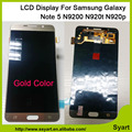 Gold Color New Mobile Phone LCD Display Digitizer LCD Touch Screen For Samsung Note 5 N920R4 SM-N920T SM-N920A SM-920V SAM1092