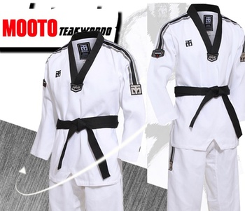 Small Square Grid fabric Taekwondo Mooto Limited Edition Clothes Top Coach service 2019 Professional Uniform Sport Dobok Comfort