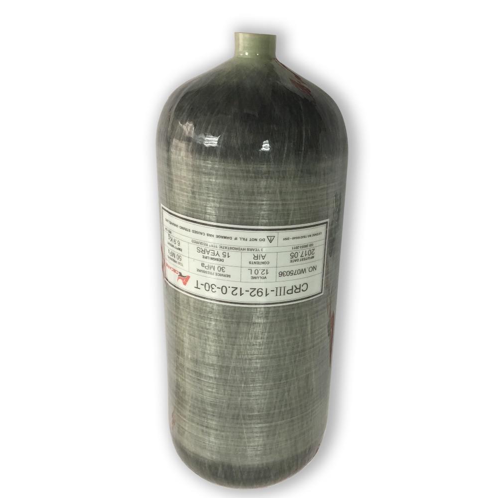 AC3120 12LGB réservoir en Fiber de carbone Airforce Condor 4500Psi réservoir de plongée cylindre compresseur de plongée recharge bouteille de gaz bouteille de plongée Pcp-R