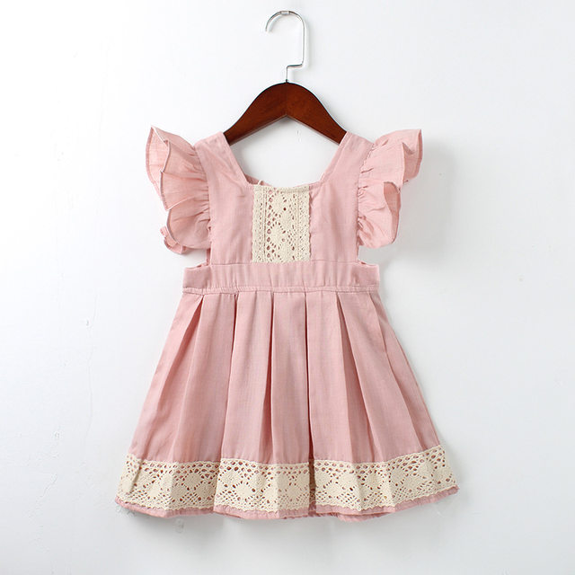 Bébé Filles Robe D\u0027été Plage Style ruches dentelle Dos Nu Robes Pour Les  Filles Vintage Enfant Fille Vêtements 1,5Yrs bebe robes