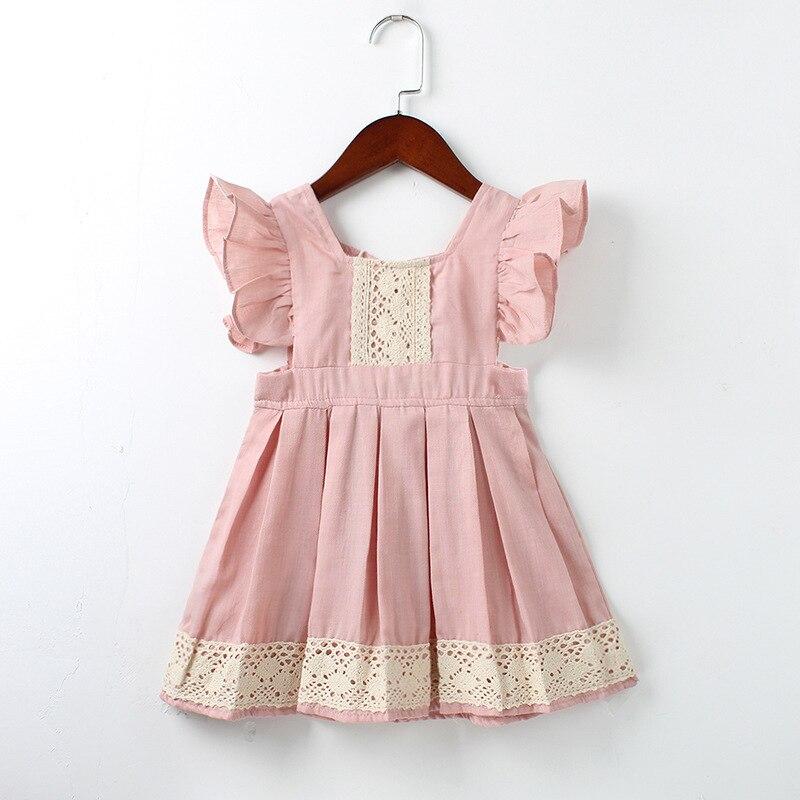 Baby Girls Dress Summer Beach Style ruffles lace Backless ...