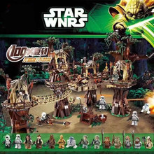 the star wars EWOK Village Legoinge starwars 05047 set 1990pcs Building Blocks toys Treetop home kids Bricks toy 10236