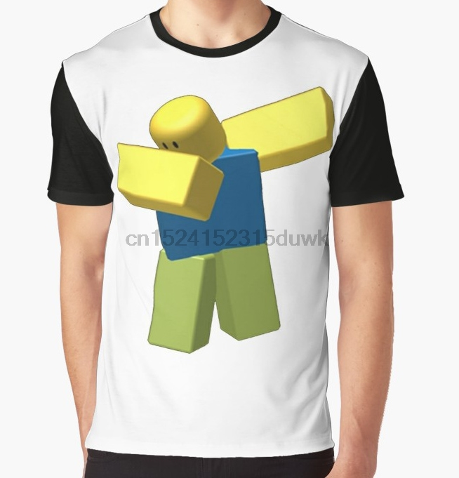 US $12 87 8% OFF|All Over Print T Shirt Men Funy tshirt COOLEST ROBLOX DAB!  Short Sleeve O Neck Graphic Tops Tee women t shirt-in T-Shirts from Men's