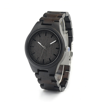Top Gifts Watches Genuine Cowhide Leather Strap Luxury Wood Watch Japan Movement 2035 Wristwatch For Men