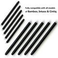30 Packs/lot Cuaderno de Dibujo Gráfico Estándar Lápiz Negro Stylus de Repuesto para Wacom Bamboo Intuos Cintiq plumillas Cuaderno de Dibujo pluma