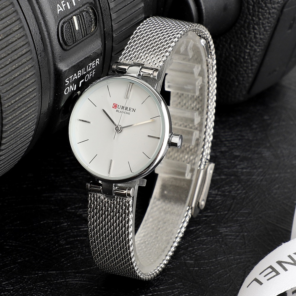 CURREN Quartz Women Watch 2019 Luxury Brand Quartz Watches Ladies Mesh Stainless Steel Clock Female Wristwatch Relogio Feminino