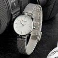 CURREN Quartz Women Watch 2019 Marca de Luxo Relógios de Quartzo Das Senhoras Malha de Aço Inoxidável Relógio Feminino Relógio de Pulso Relogio feminino