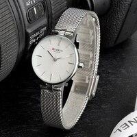 CURREN Quartz Women Watch 2019 Marca de Luxo Relógios de Quartzo Das Senhoras Malha de Aço Inoxidável Relógio Feminino Relógio de Pulso Relogio feminino|Relógios femininos|Relógios -