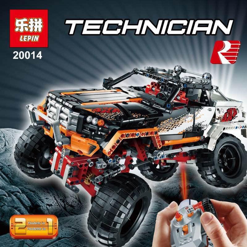 LEPIN Technic Series 20014 1386Pcs 4X4 Crawler Vehicles Model Building Kit Blocks Bricks puzzel Toys Gift for children With 9398 конструктор lepin technic монстр трак 4x4 crawler 1605 дет 20011