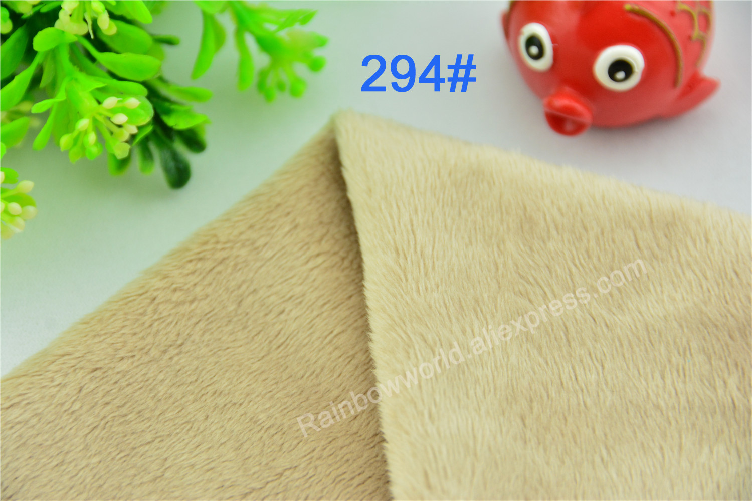 294# Light Gray Color Super Soft Short Hair 2-3mm Fleece Fabric Velvet Microfiber Velboa for DIY Patchwork Toy Shoes Sofa Pillow