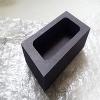 85x45x30mm Graphite Tank Squre Crucible For Melting Casting