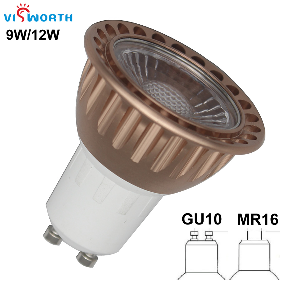VisWorth GU10 G5.3 Led Light COB Led Spotlight Bulb Mr16 Led Lamp Warm Cold White Ac 110V 220V 240V Led Lamp Refletor For Home