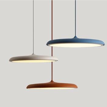 Современные светодиодные подвесные и подвесные светильники 8 видов цветов DIY художественное освещение для столовой, коридора, бара, кафе, по...