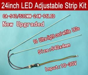 Набор для обновления светодиодных ламп с подсветкой для ЖК-монитора, 2 светодиодных ленты с поддержкой 24 ''540 мм