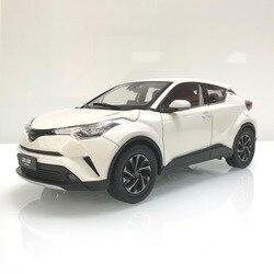 1:18 Diecast Model voor Toyota IZOA C-HR 2017 Wit Legering Speelgoed Auto Miniatuur Collectie Geschenken CHR C HR