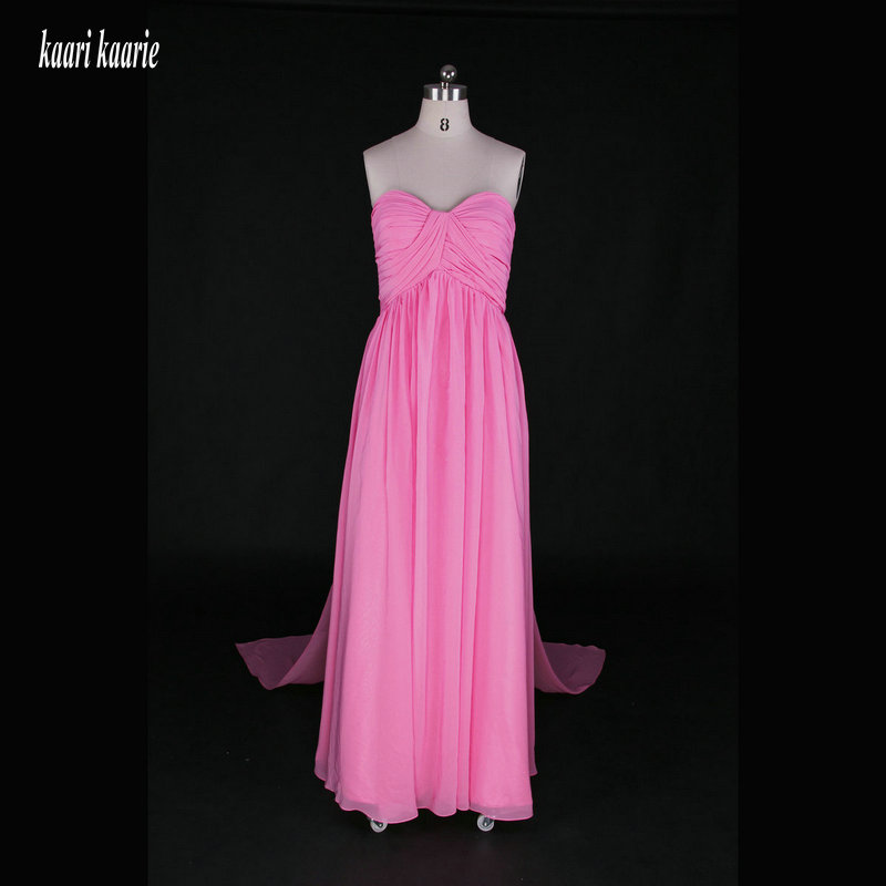 Simple Peach Long Evening Dresses 2018 Sexy Chiffon Prom Formal ...