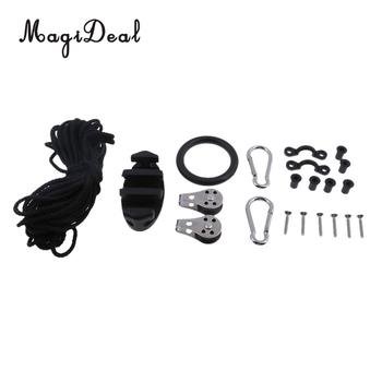 Kayak Canoe Anchor Trolley Kit System Zig Zag Cleat ,Pulley Snap Hook, Rope Water Sports for Boat Dinghy Yacht - discount item  44% OFF Water Sports