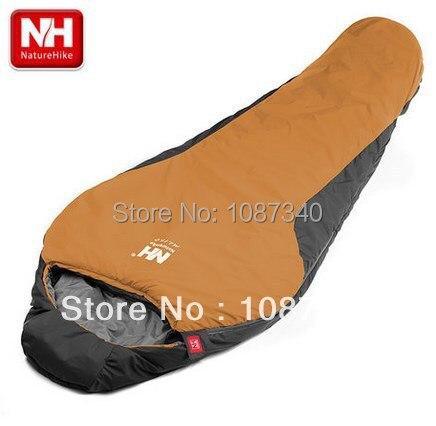 online retailer 8dfa7 228c5 US $93.95  NatureHike NH mummy sleeping bag, super light outdoor imitation  silk cotton sleeping bags yellow ML150-in Sleeping Bags from Sports & ...