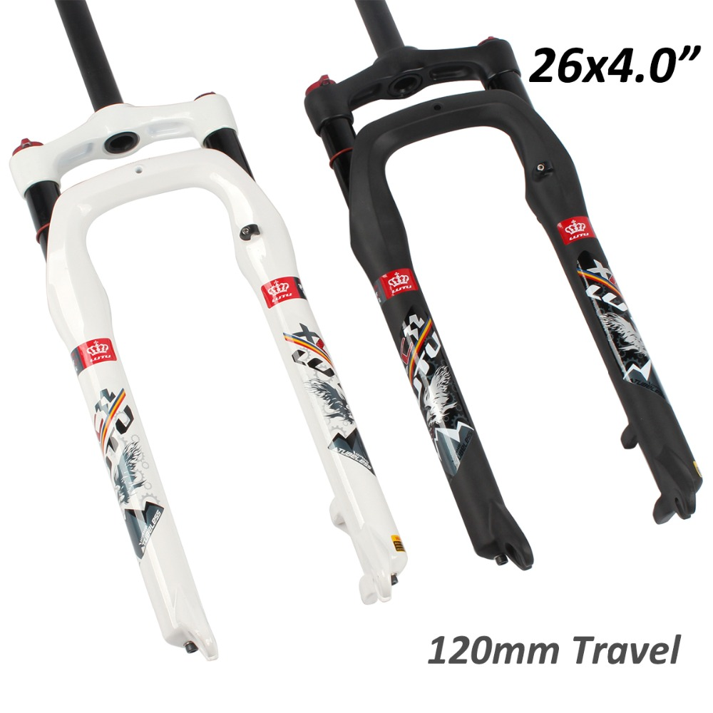 """26/"""" Fat Bike Fork Suspension 4.0 Tire Snow Bicycle 1-1//8/"""" 135 x 9mm qr Mountain"""