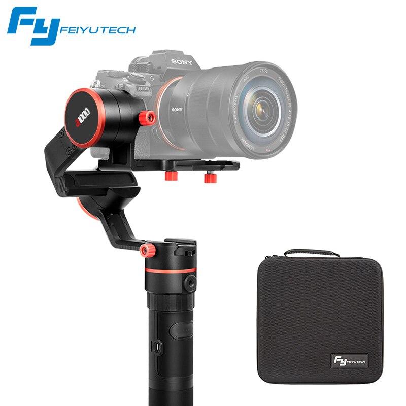 Feiyu A1000 3 axes cardan DSLR caméra stabilisateur double poignée de poche pour a6500 a6300 iPhone Canon 5D/SONY Panasonic 2000g