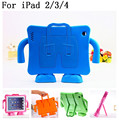 Shockproof Kids Handle EVA Rugged Proof Non-toxic Safe Foam Case Cover For Apple for iPad 2 3 4,SKU 0135M