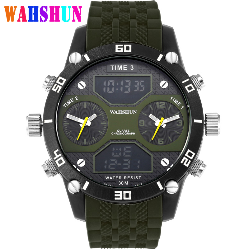 Luxury Brand Sport Watches Men Multi-functional Wristwatch Fashion men's quartz watch waterproof Clock Relogio Masculino W3305 factory men and women multi functional watches sports leisure watches the sleep time sport bluetooth watch