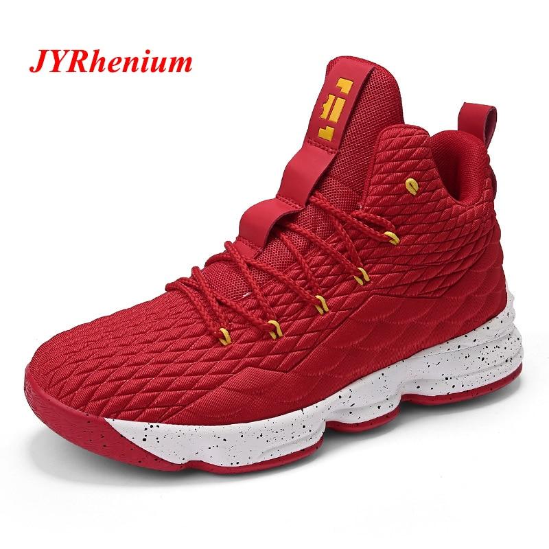 dfd68eeb186 36-46 alto-top hombres zapatos de baloncesto de mujeres amortiguación  transpirable zapatillas de baloncesto Anti-deslizamiento deportes atléticos  hombre ...