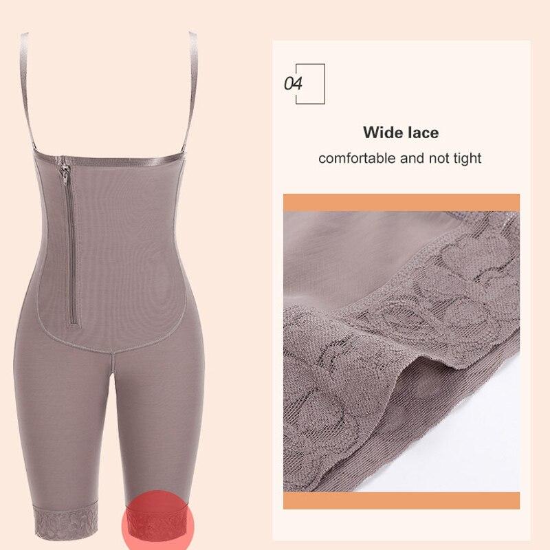 HEXIN Slimming Women Full Body Shaper Tummy Control Waist Cincher Underbust Removable Shoulder Strap Butt Lifter Shapewear Plus