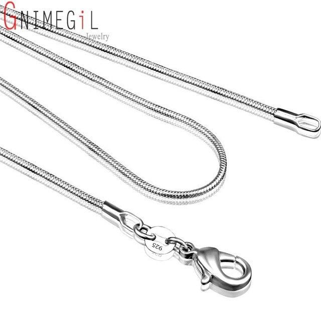 22ab7acc4e2c C008 Barato Caliente 1 MM calidad Superior cadena de plata 925 serpiente de  La Joyería de ...
