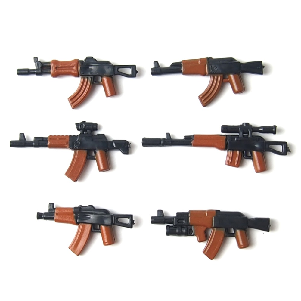 moc military weapon Building Block mini Bricks rifle Sniper rifle Submachine gun Building Blocks lepin Toys for children