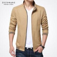 Zozowang men jacket casual cotton army outdoor collar baseball shirt