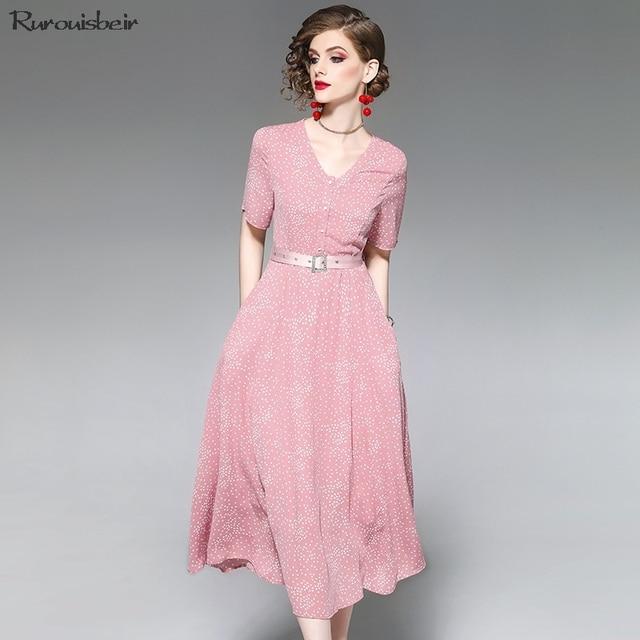 12fbf9366 2019 mujeres Sexy vestido negro elegante brillo impresión de fiesta botones  perla verano nueva mujer vestidos Vintage enviar delicado cinturón
