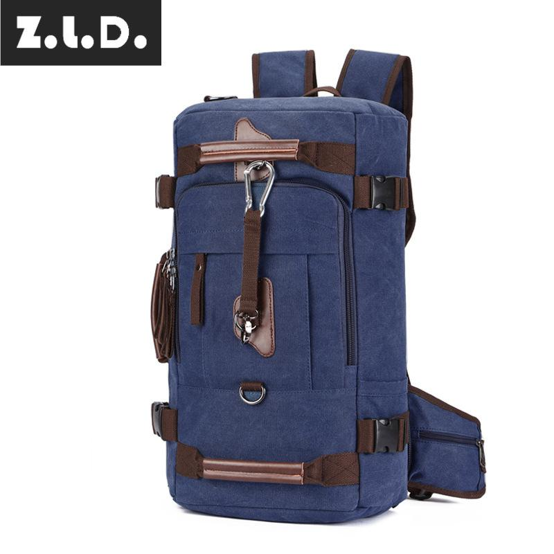 Z.L.D. luxury brand canvas thickened backpack mountaineering bag large-capacity travel bag weekend canvas bag mens bag