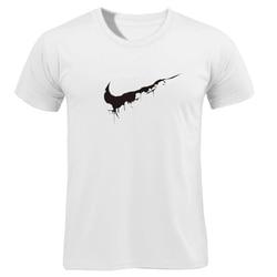Bawełna Casual drukowanie LOGO męska koszulka najwyższej moda z krótkim rękawem wystarczy złamać go męska koszulka koszula 2019 chanuka Off biały 3