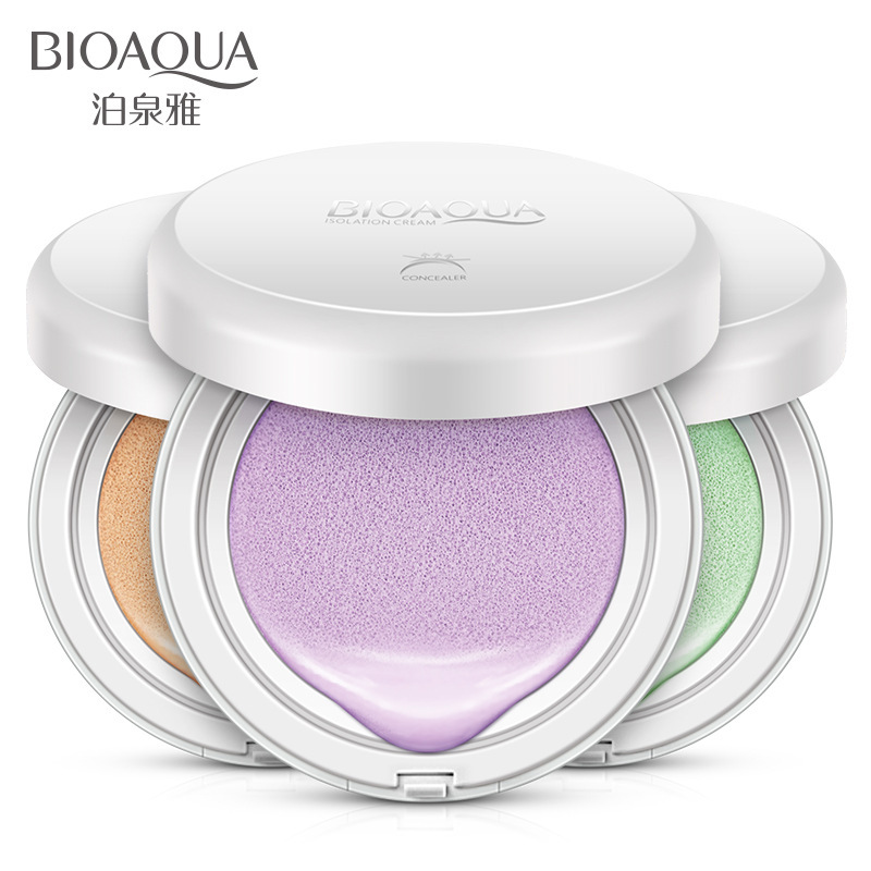 BIOAQUA Air Cushion Liquid Foundation Face Base Makeup Primer Concealer Brighten Whitening Nude Skin Use Before BB Cream o two o face makeup base face liquid foundation bb cream concealer foundation primer easy to wear 30ml