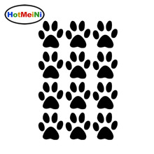 HotMeiNi 11.6*17.5CM Hot Sale Set of 12 Dog Paw Prints Decals Vinyl Car Stickers For Truck SUV Car Window Bumper Laptop