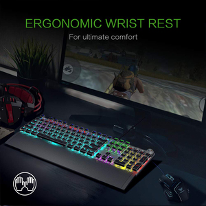 Image 5 - AULA Mechanical Gaming Keyboard Retro Steampunk LED Backlit 104 keys Waterproof for PC Computer Laptop Game Gamer Kyeboard