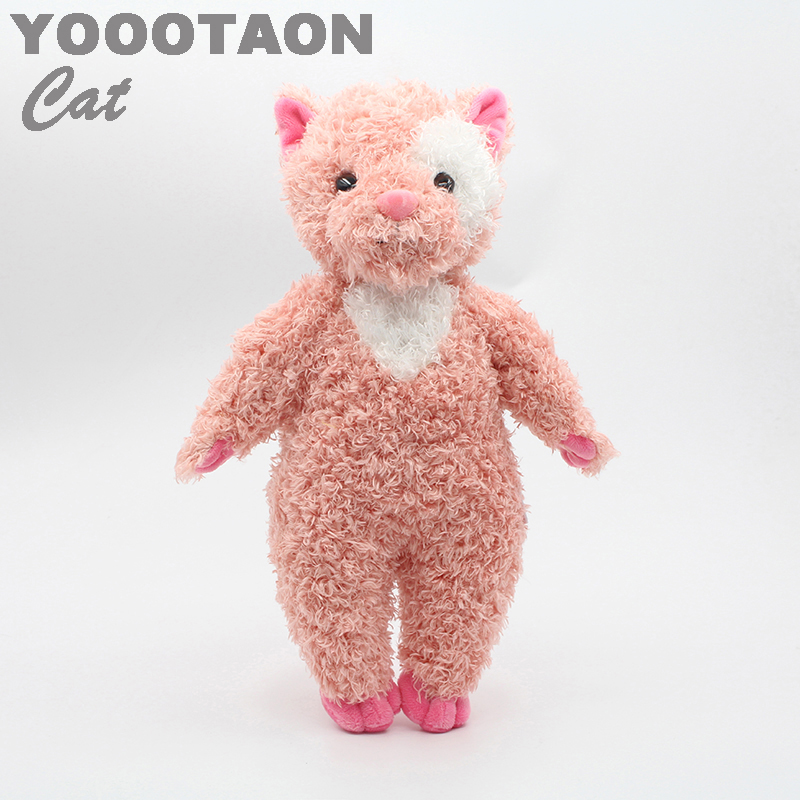 YOOOTAON kAWAII cats plush kids toys baby stuffed dolls for children girls kids toys 34cm high quality little cute flocking doll toys kawaii mini cats decoration toys for girls little exquisite dolls best christmas gifts for girls