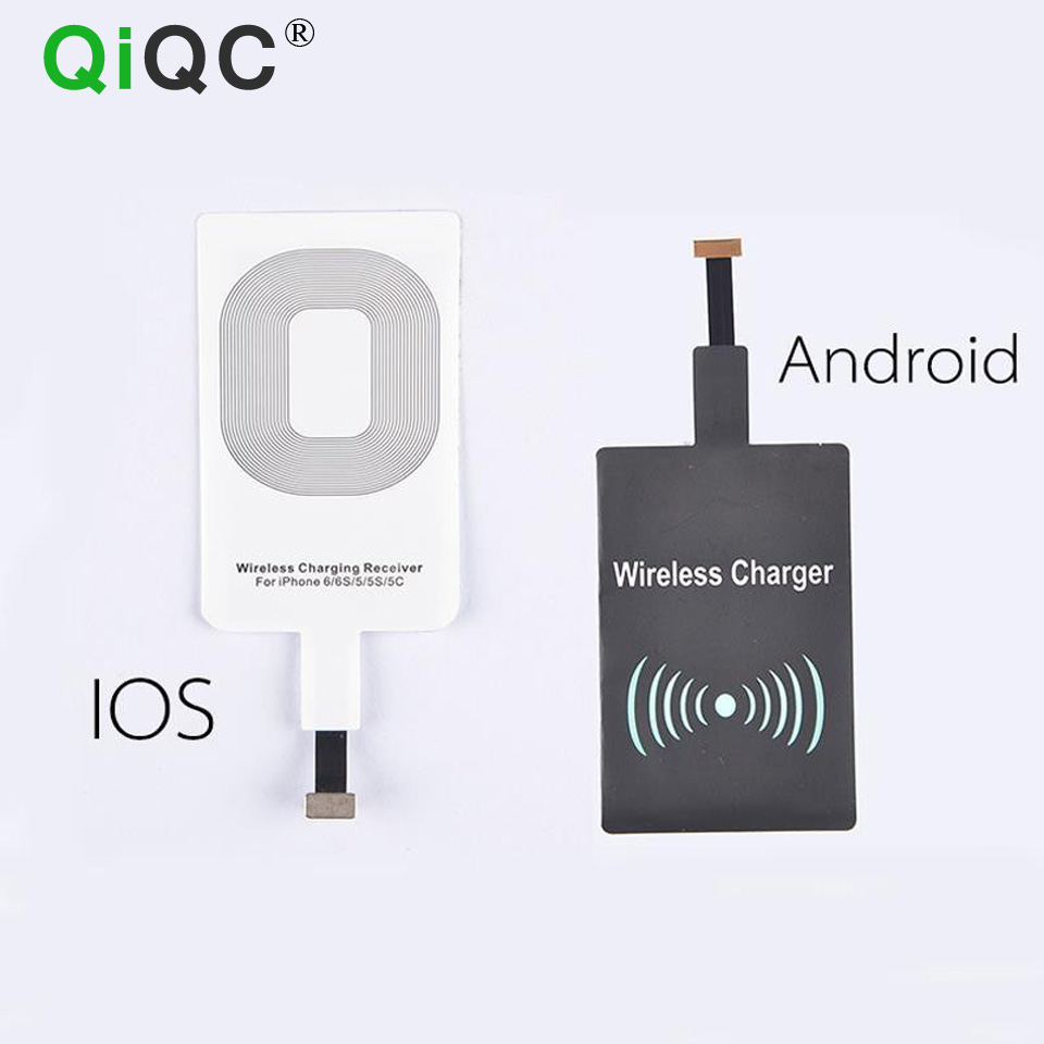 US $2 0 5% OFF|Qi Wireless Charging Charger Receiver kit Coil Ultra Thin  Universal For IOS Android Micro USB IPhone 5c 6s 7 Samsung Galaxy S6 7-in