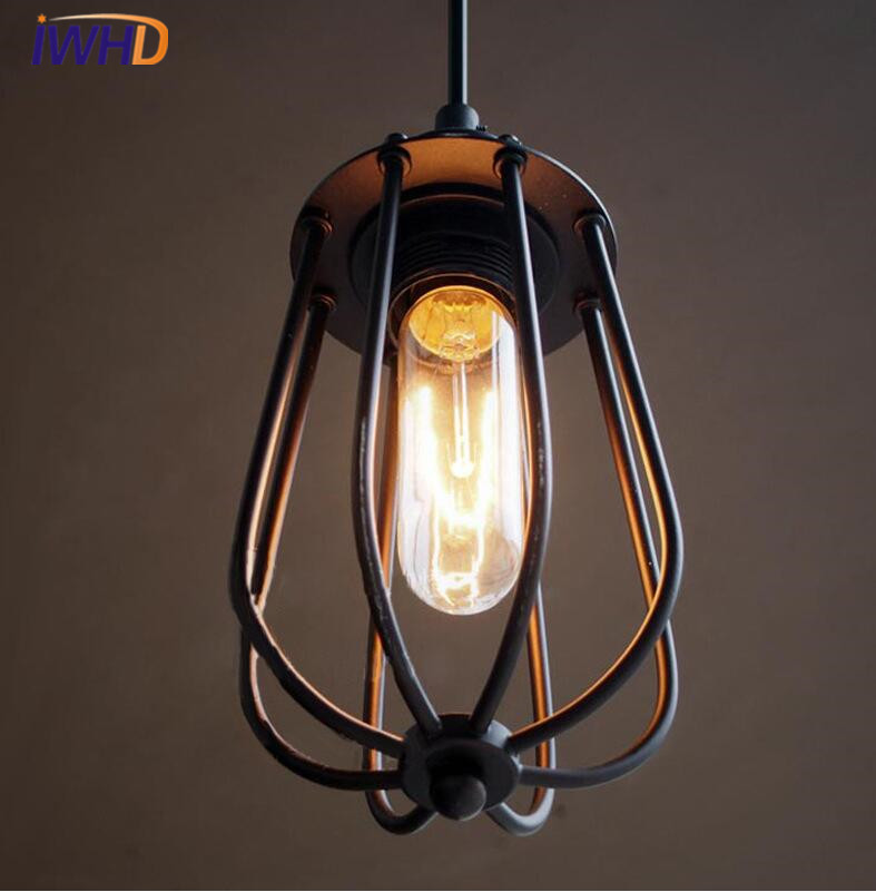 Single Head Pendant Light Simple Iron Antique Loft Industrial Pendant Lamp For Bedroom lighting Hanging Lamps Lamparas ems ferr shipping fashion iron single head pendant light entranceway lamps rustic d1043 pendant lamp