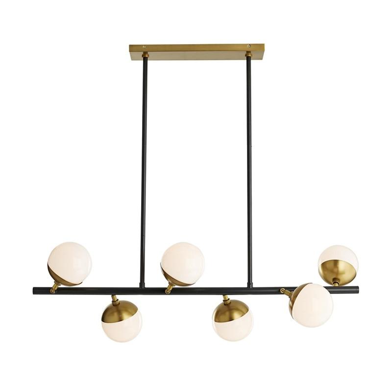 Modern Chandelier Metal Glass Suspension Light Glass Ball Hanging living room Creative restaurant Chandelier Lighting PA0101