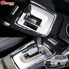 Для Subaru Forester SJ хромированная панель переключения передач Панель ободка накладка автомобильные аксессуары комплект наклеек