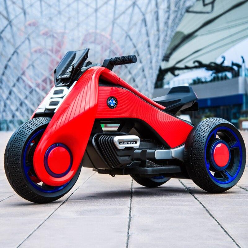 Enfants moto électrique tricycle enfants jouets 2-7 ans garçon et fille bébé batterie double entraînement voiture électrique peut asseoir les gens - 5
