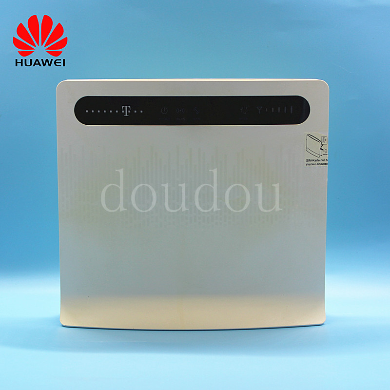 Unlocked Used Huawei B593u 12 B593S 12 4G LTE 100Mbps CPE Router With Antenna with Sim CardSlot 4G LTE WiFi Router -in 3G/4G Routers from Computer & Office