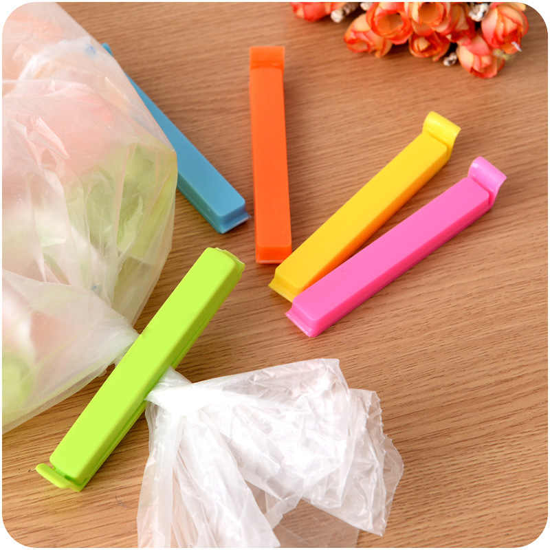 (5pcs/lot) Household food snack storage sealed bag clip, coffee tea milk powder storage bag seal clip