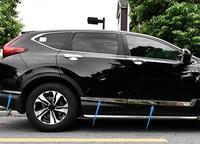 ABS Chrome Side Door Body Molding Cover Trim 6pcs For Honda CR V CRV 2017 2018