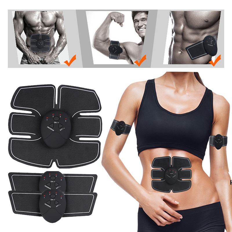 Electric Abdominal Muscle Stimulator EMS Body Slimming Muscle Exerciser Intensive Training Belts Fat Burner massager without box