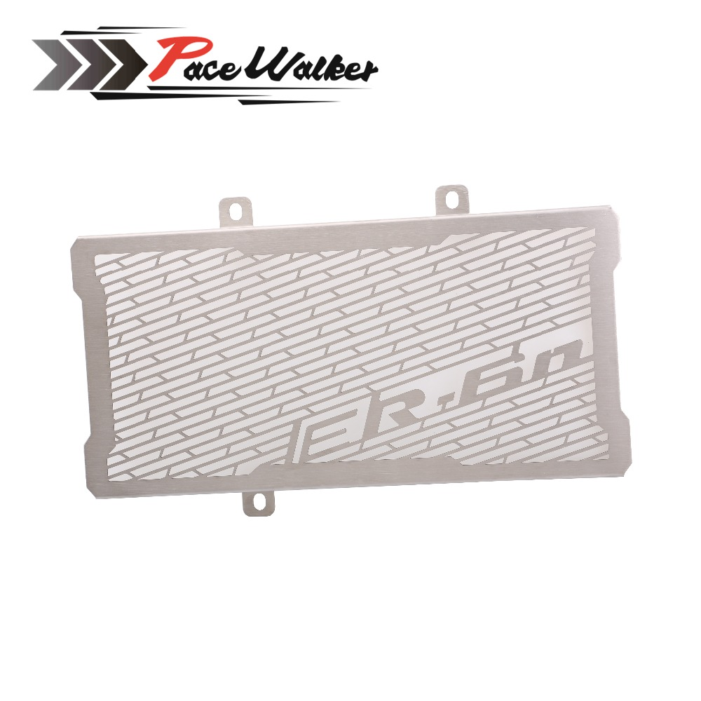 FREE SHIPPING Motorcycle Accessories Radiator Grille Guard Cover Protector For Kawasaki ER6N ER-6N 2012 2013 2014 2015 2016 motorcycle stainless steel radiator guard protector grille grill cover for kawasaki z750 2010 2011 2012 2013 2014 2015 2016