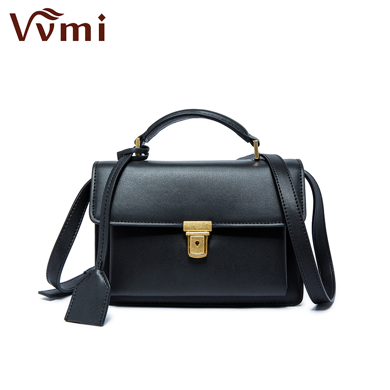 Фотография VVmi satchels small leather bag handbag bag retro Single Shoulder Bag Messenger Bag lock