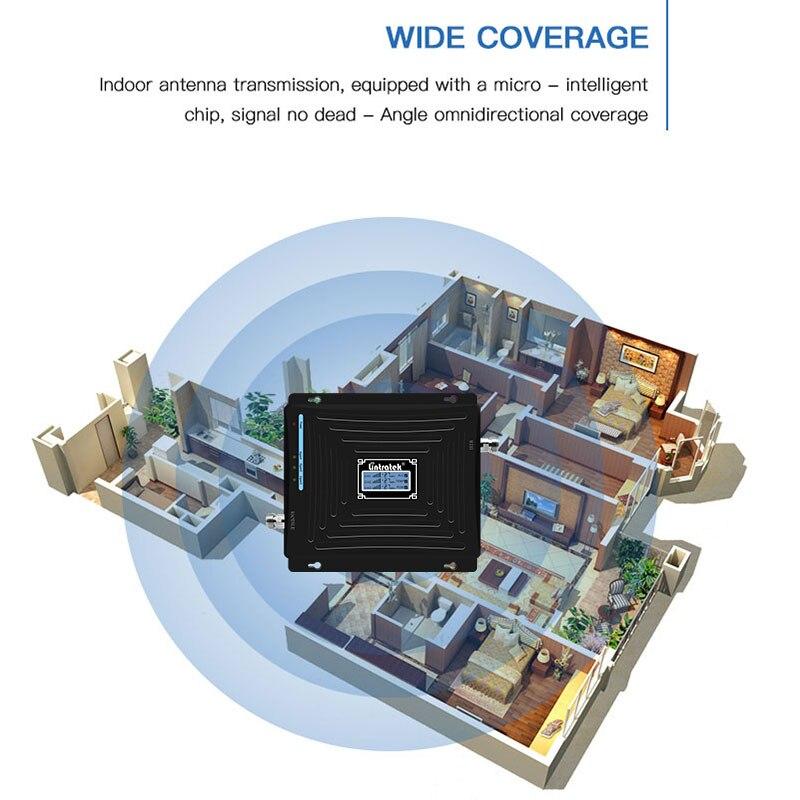 Lintratek 2G 3G 4G Amplificateur de Signal 850 1800 2100 Mhz Répéteur 2G 3G 850 Mhz 2100 Mhz 4G LTE 1800 Mhz Amplificateur CDMA WCDMA DCS @ 6 - 5